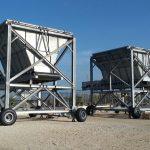 Mobile hopper material handling