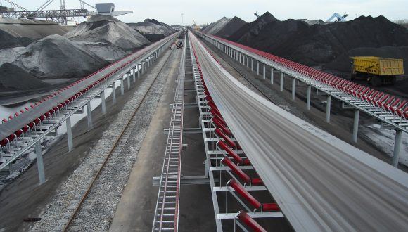long belt conveyor system for coal