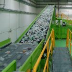 belt conveyor pet recycling installation