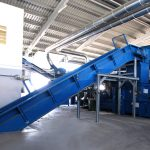 chain belt conveyor recycling installation