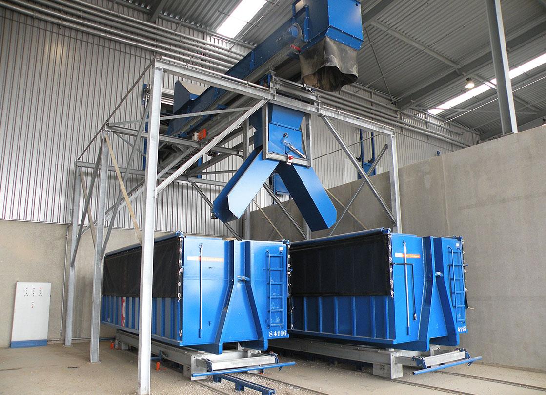truck container waste storage