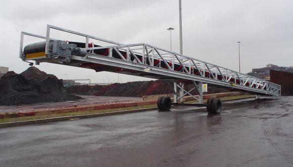 semi mobile belt conveyor