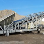 semi mobile loader sand gravel