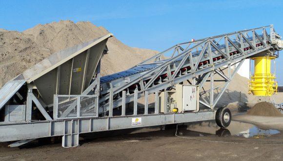 semi mobile loader sand gravel