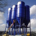 silo for bulk material storage at coal drying plant