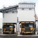 truck loader processing of bulk materials