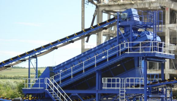 vibrating screen for coal grading