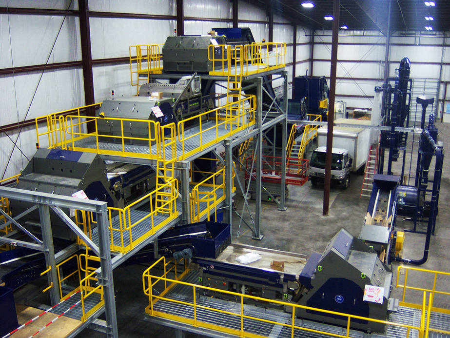 PET recycling line sorting plant