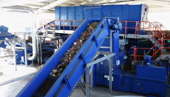 Recycling plant municipal waste chain conveyor