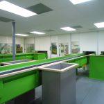 sorting cabin control room