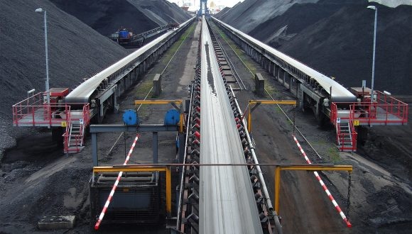 belt conveyor coal storage
