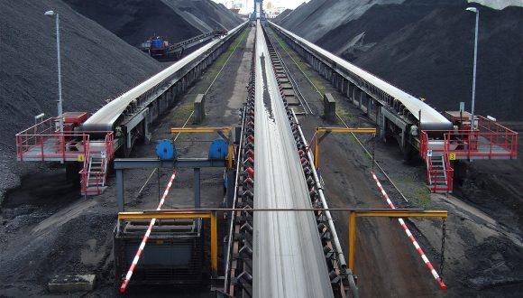 Transportband systemen voor steenkool overslag terminal