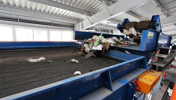 belt conveyor waste sorting