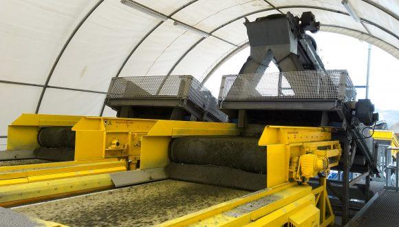 bottom ash processing separator
