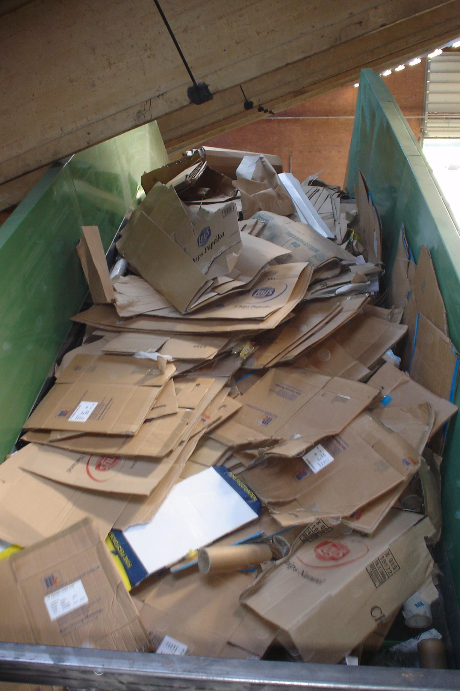 cardboard recycling machinery