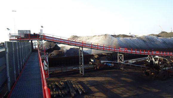 concave shape belt conveyor