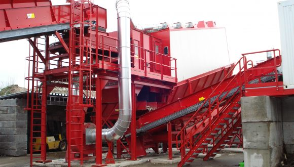 demolition waste processing equipment
