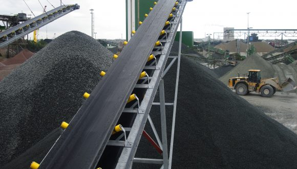 granite bulk handling conveyor