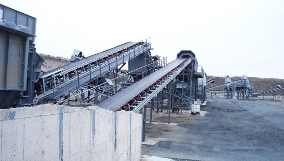 inert material waste processing installation