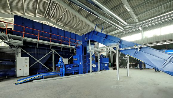 municipal solid waste recycling installation