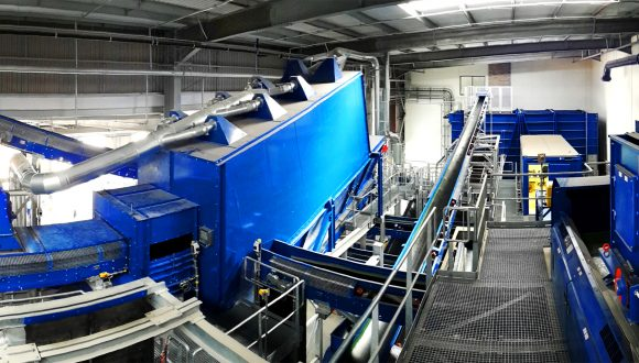 air separator municipal solid waste sorting line