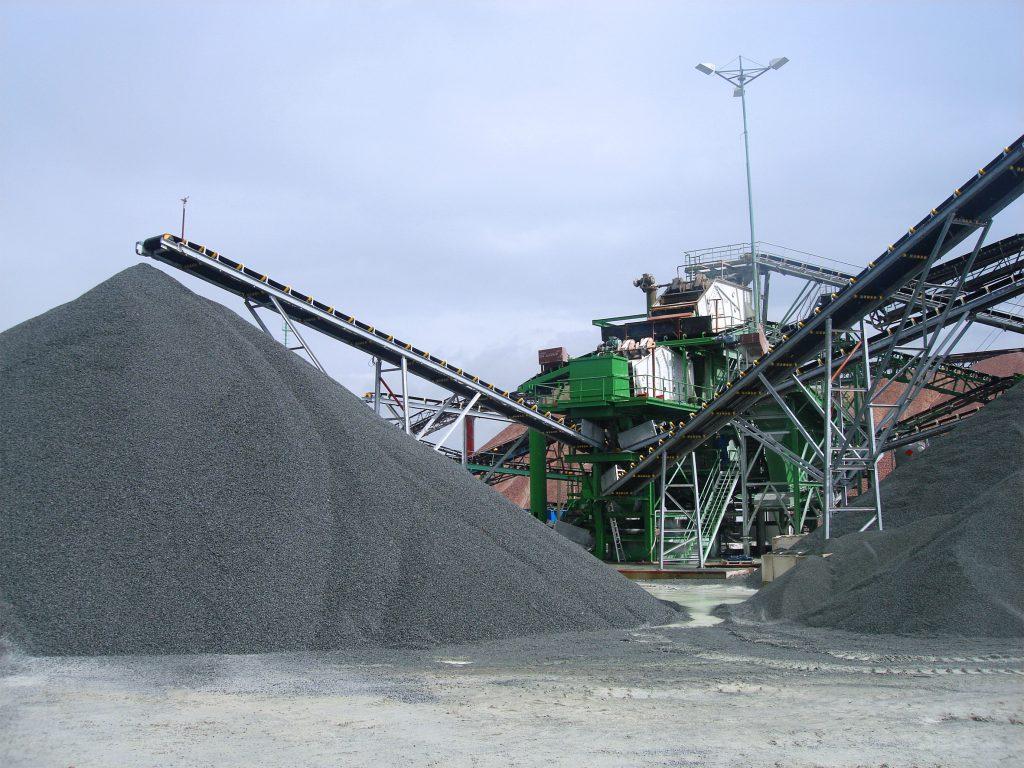 Équipement industriel de manutention du granit