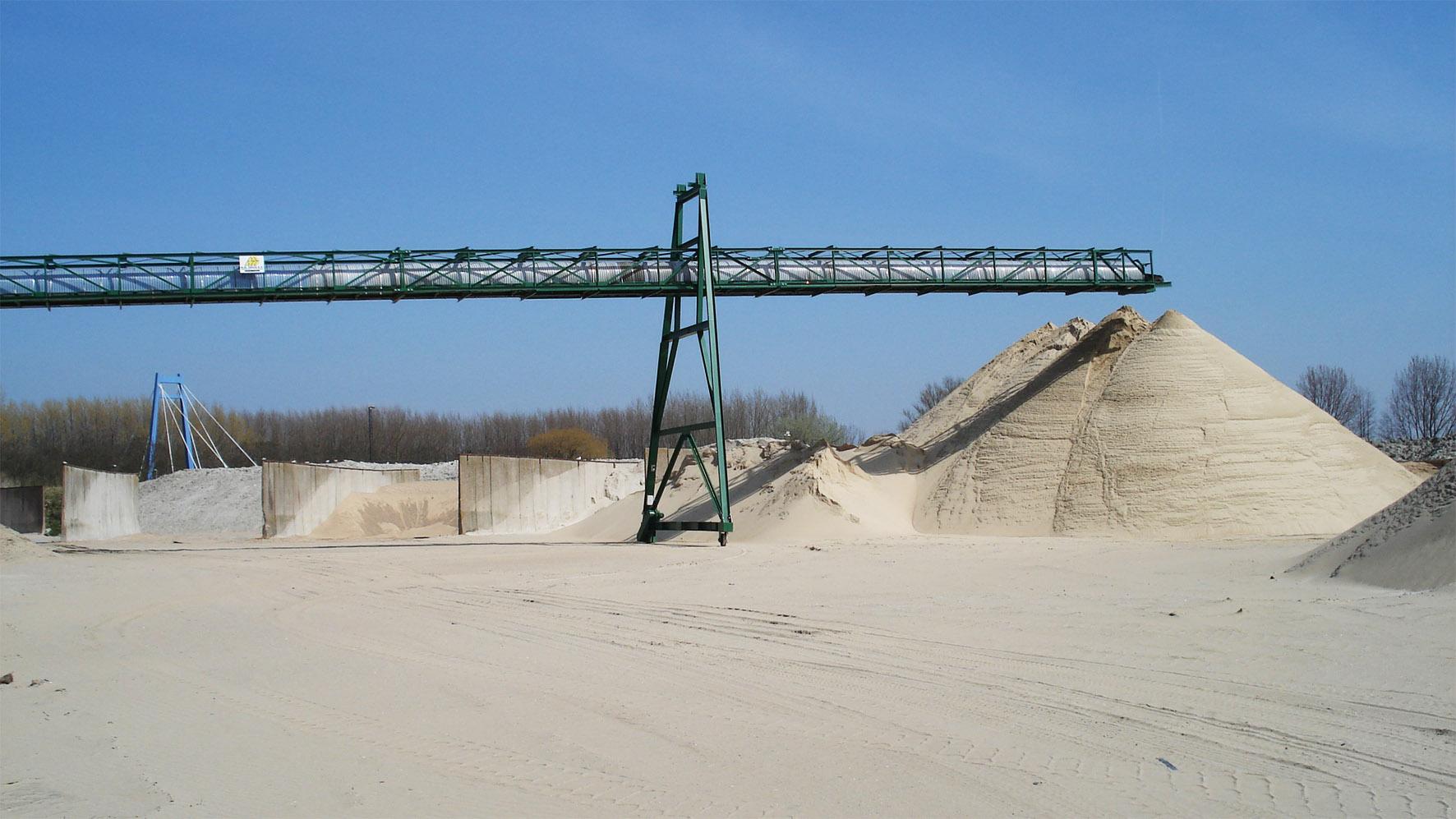 Transportband voor zand en grind