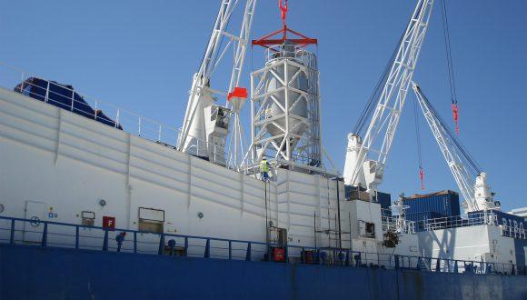 silo on ship