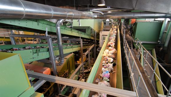 single stream recycling plant