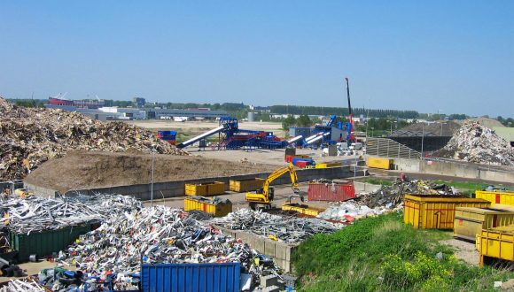wood construction demolition recycling plant