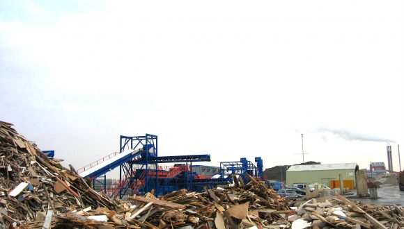 wood waste recycling machinery