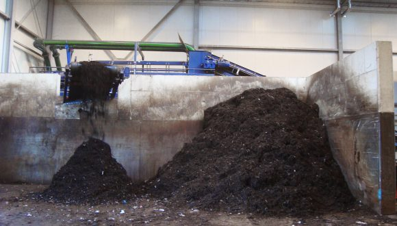 compost and green waste recycling plant