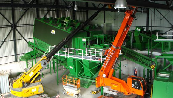 construction demolition waste recycling facility