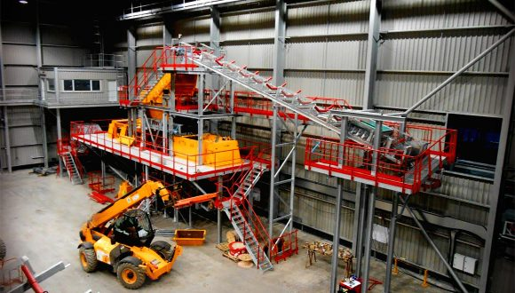 incinerator slag material recovery plant