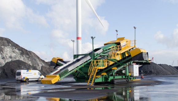 mobiles Sieb für Kohle