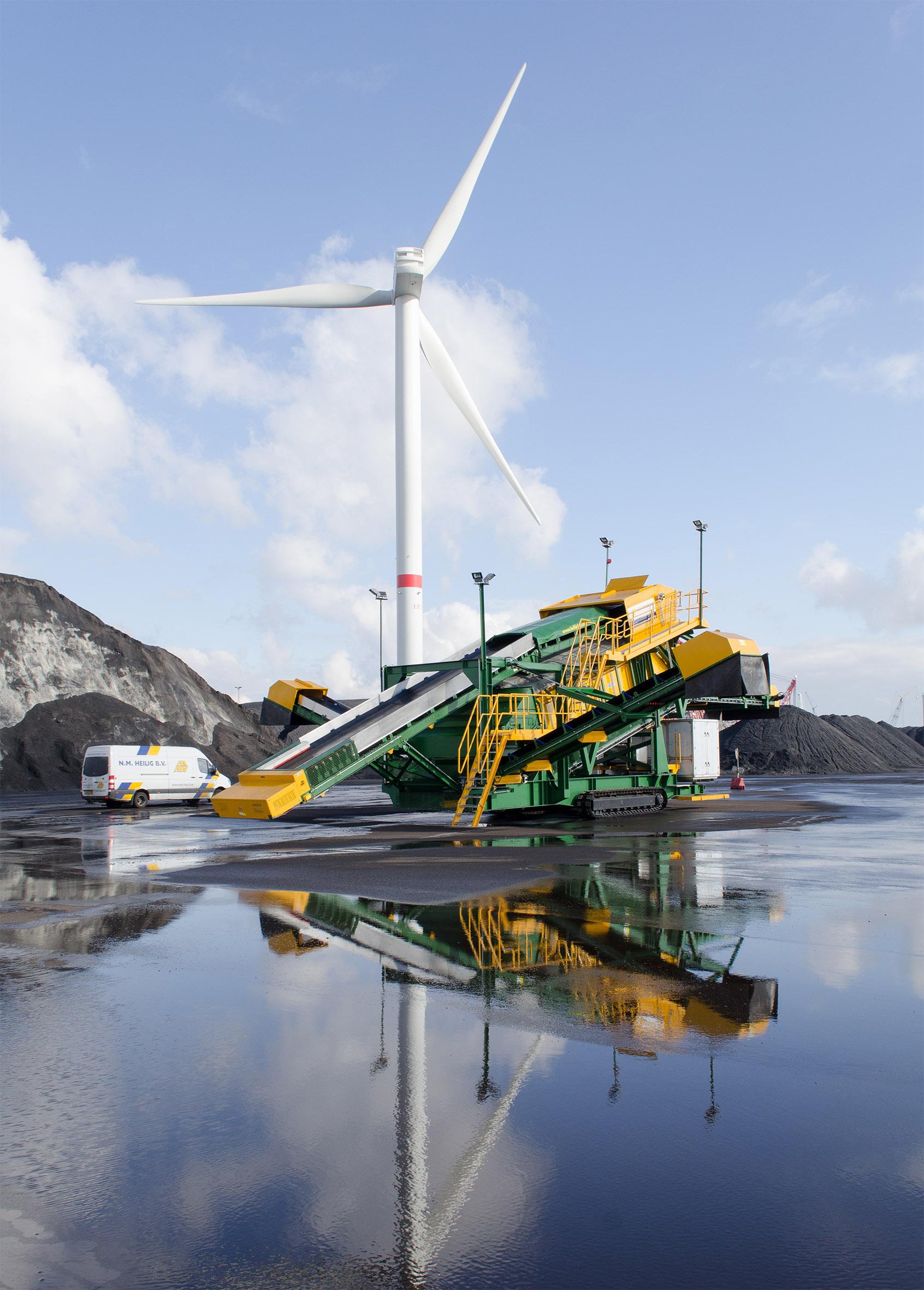 Mobiele zeefinstallatie voor steenkool