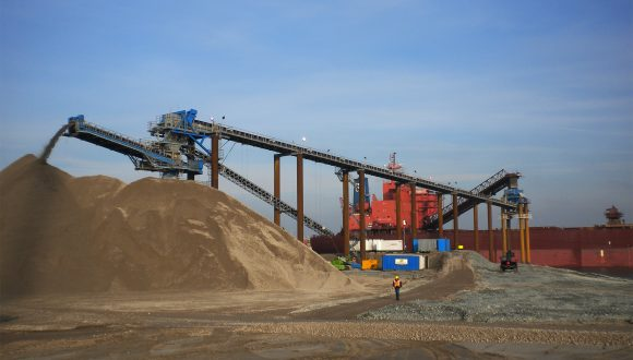 reclaiming land sandstone terminal
