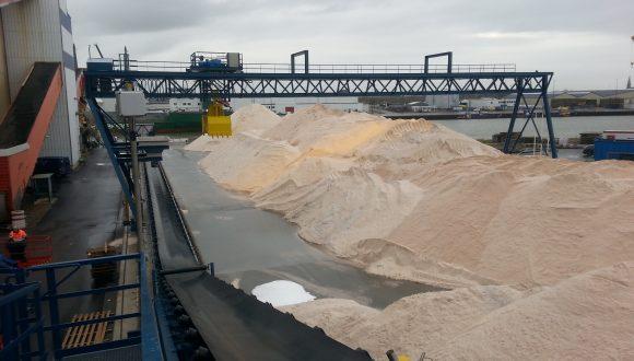 salt bulk terminal conveyor