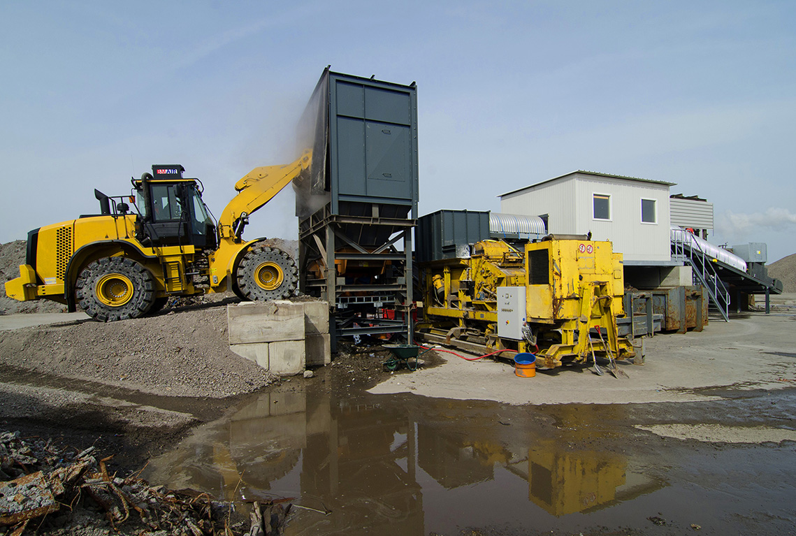 slag processing installation