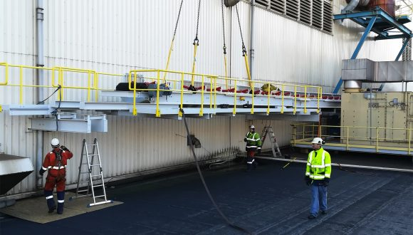 belt conveyor system installation