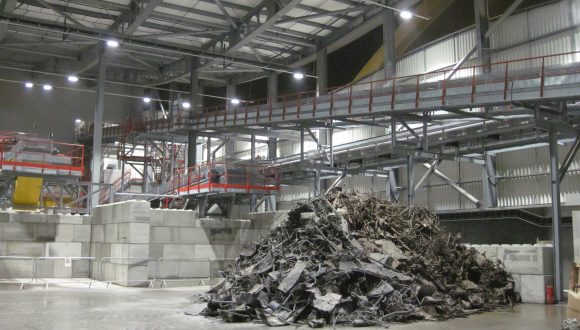 Incinerator Bottom Ash recycling facility