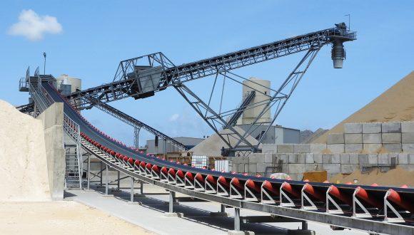 Transportband zand