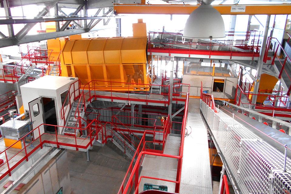 bottom ash processing plant drum screen belt conveyors, screening machines