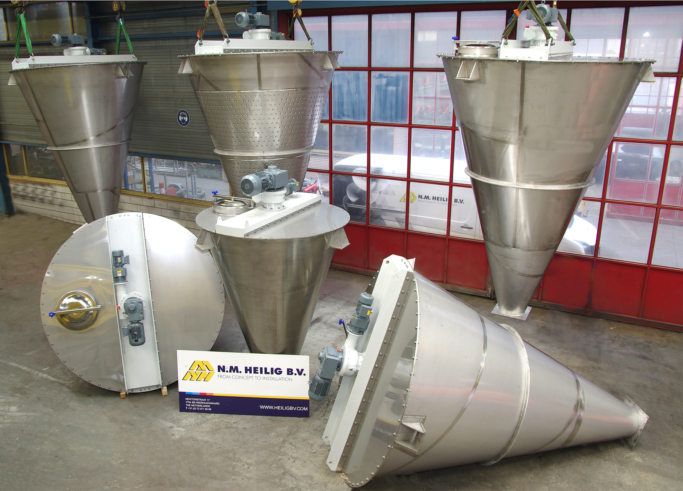 industrial mixer for bulk materials